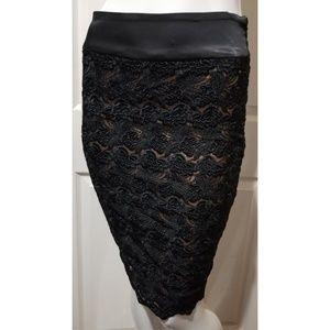 ddf90e4f8d bebe Skirts | Preloved Vampy Lace Corset Detail Skirt | Poshmark